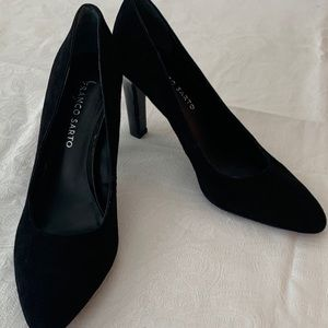 Franco Sarto - Black Suede - Pumps - Size 7.5